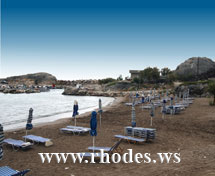 Stand Kolymbia - Rhodos - Griechenland