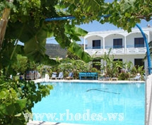 Pool of Hotel Garden in Pastida - Rhodes - Greece
