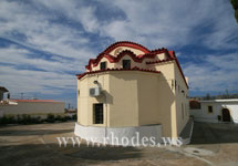 A Church in village Apolakkia on the island of Rhodes - Greece