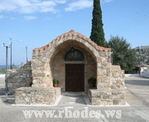 One small Church of Kalathos on island Rhodes Greece